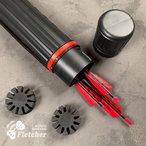 Plastic arrow tube with membranes